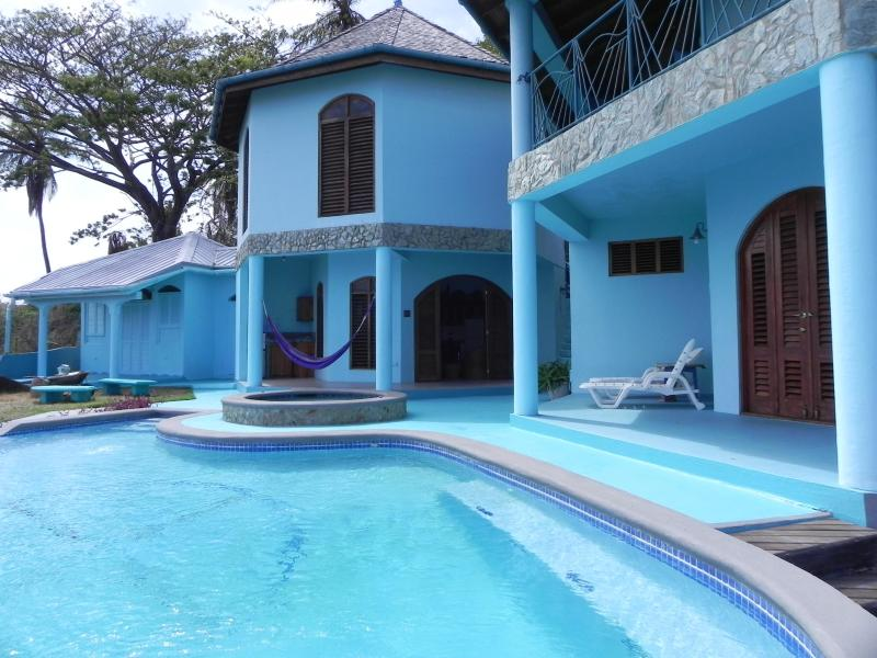 view of villa, pool and Jacuzzi - Caribbean Paradise in Tobago, West Indies - Scarborough - rentals