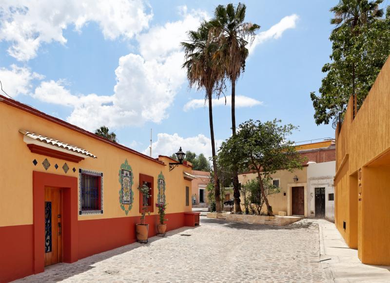 The entrance to the apartment is in a quiet street, Callejon Felix Diaz. - Casa de Benito - central, quiet, modern, private - Oaxaca - rentals