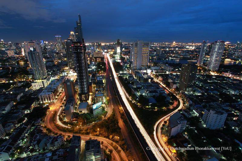 Top View to See Riverside - New Spacious 1 BR next to BTS, Free WiFi, HighFlr, 55sq.m - Bangkok - rentals