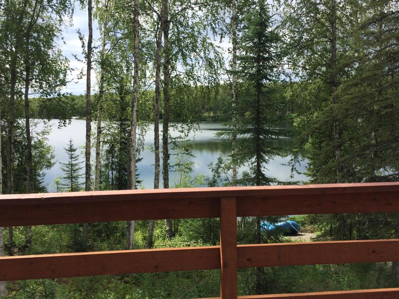 Upstairs Living Room overlooking Lake - Cabin on Quiet Lake in Willow Alaska - Willow - rentals