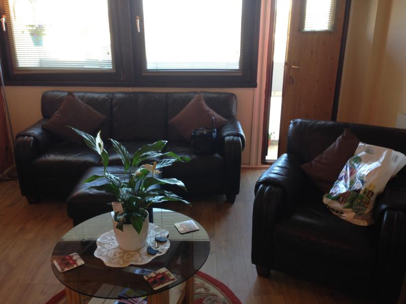 Living Room With Door To Balcony - City Centre Apartment - Aberdeen - rentals