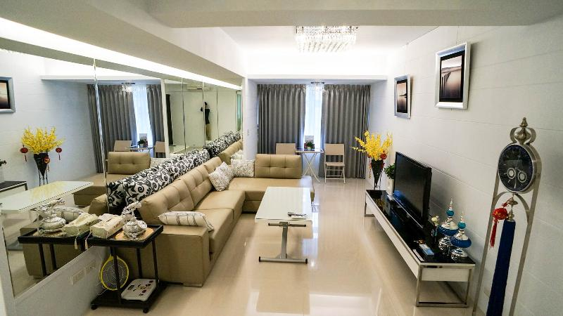 Living Room - 2BR ❤Near NTNU  University New ,Deluxe  Huge ❤s6 - Taipei - rentals