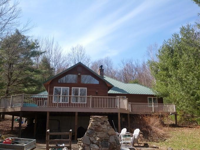 Front of house - Great Sacandaga Lake Front Home with Dock Day, NY - Hadley - rentals