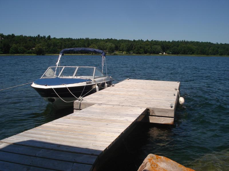 Island dock - Private island cottage for rent 1000 islands - Ontario - rentals
