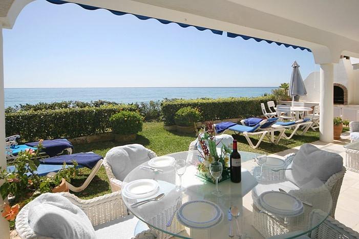 Rear Patio on seaside - Beach Villa on between Puerto Banus and Marbella - Marbella - rentals