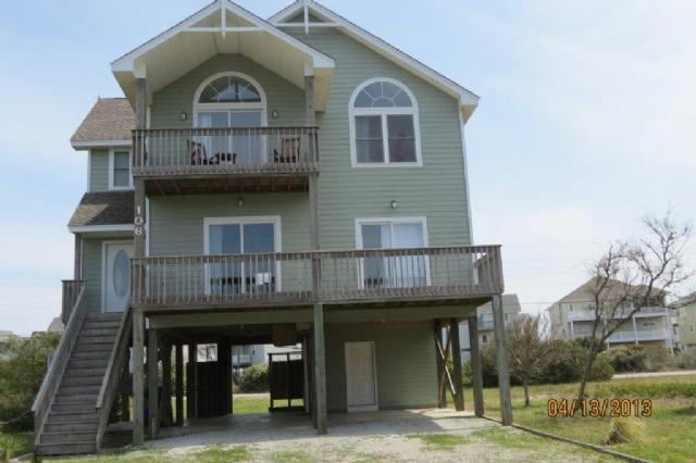 Front of Home - Old Village Lane 106 -4BR_SFH_OV_11 - North Topsail Beach - rentals