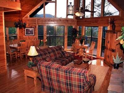 See outside From In - SPECTACULAR SMOKY MT. VIEW LUXURY CHALET 5 BR 3BTH - Sevierville - rentals