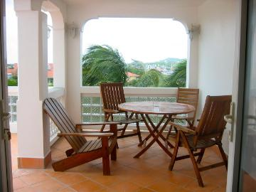 Covered Balcony Dining - Overlooking the Marina - St Lucia, Rodney Heights/Bay, Kaye Kristal Aparts. - Saint Lucia - rentals