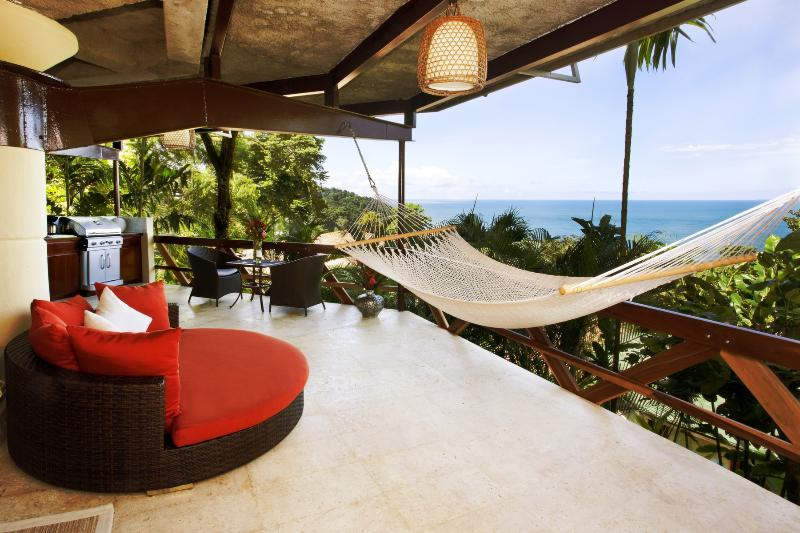 Relax in a hammock or oversized chair overlooking the Pacific Ocean - Mot Mot Hideaway -- Oceanview Villa for Couples - Manuel Antonio National Park - rentals