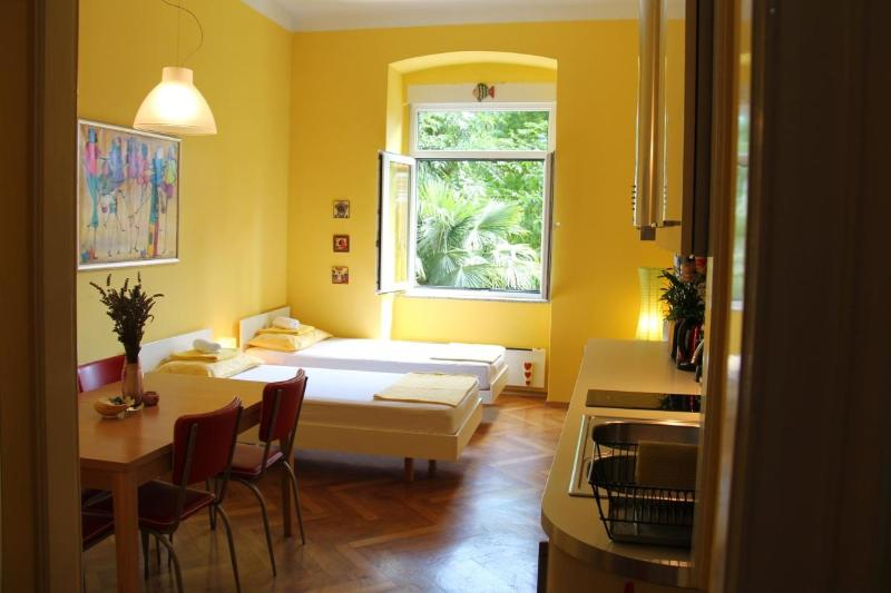 Living room, dining room and fully furnishe kitchen - Sunny Oasis of Peace in CENTER - Rijeka - rentals