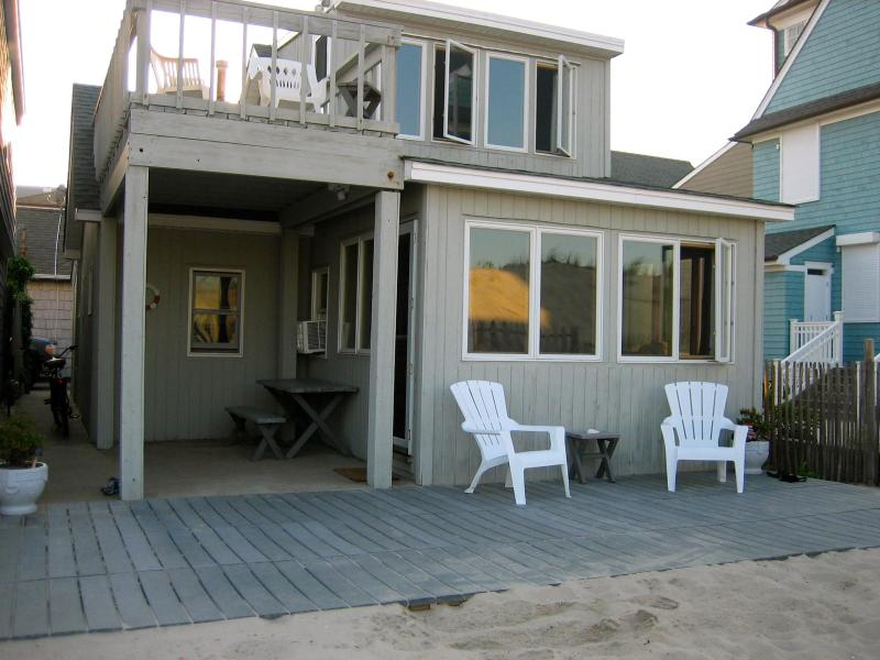 front of house right on beach - Awesome Oceanfront Beach House - Lavallette - rentals