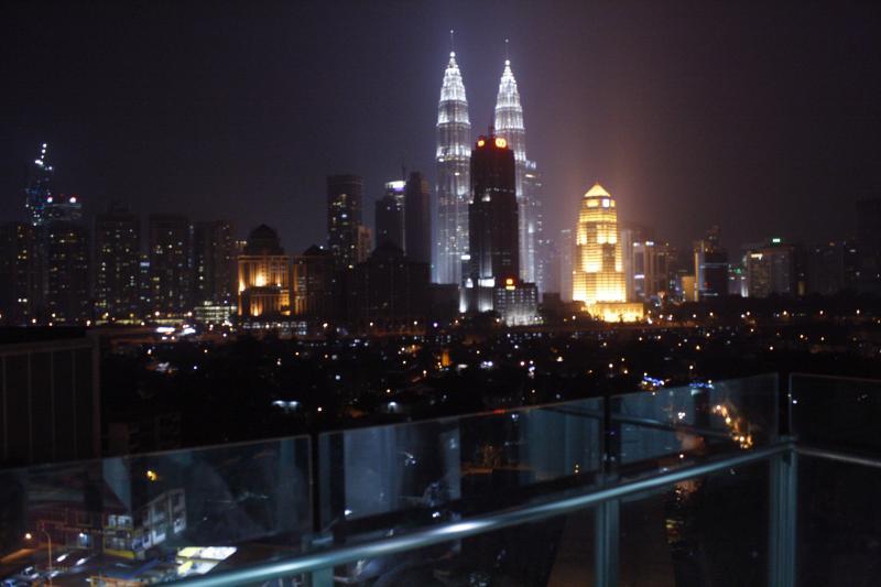 KLCC view from the balcony/patio - KLCC View @haYATsTAY VACATION HOME - Kuala Lumpur - rentals
