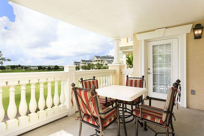 Dine outside with the outside table that comfortably seats 4 - Luxury Life | 3 Bed Condo | Reunion Resort - Kissimmee - rentals