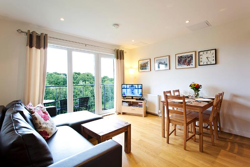 Living room - Modern Spacius City Apartment,Lift, WI-FI&Car Park - Edinburgh - rentals