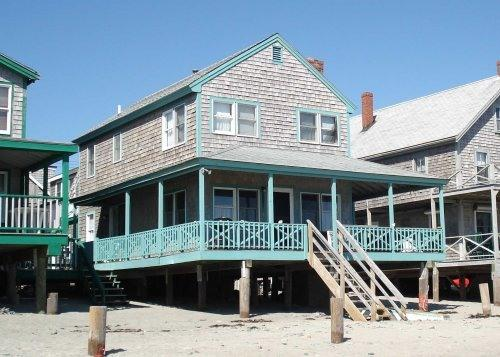Oshers Cottage viewed from the beach - Cottage directly on Minot Beach, Scituate!! - Scituate - rentals