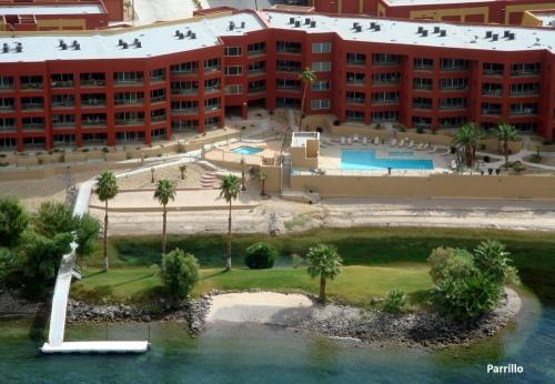 Arial View of the Complex - RIVERFRONT CONDOS - directly across from Casinos - Bullhead City - rentals
