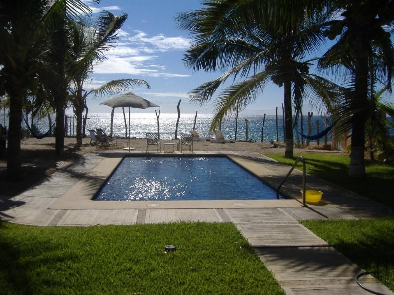 Pool and yard - Traditional Mexican Beach House - Melaque - rentals