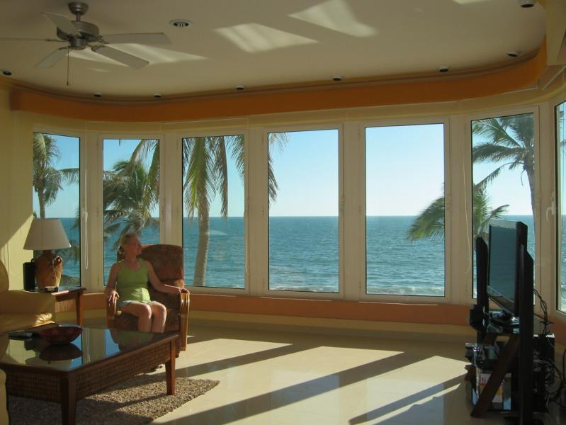 Spectacular View From Living Room & Kitchen. - Breathtaking Paraiso II Beachfront 3 Bedroom Condo - Mazatlan - rentals