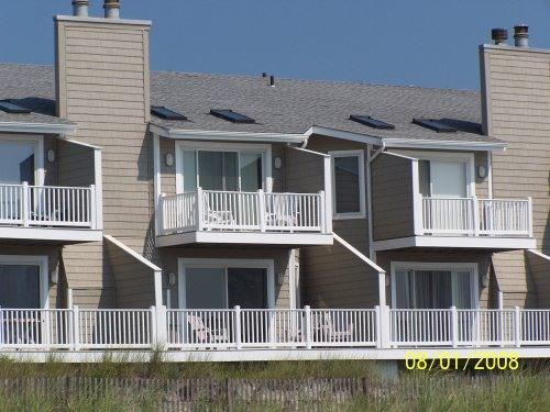 View of condo from beach - Ocean Front Townhouse - Brigantine - rentals