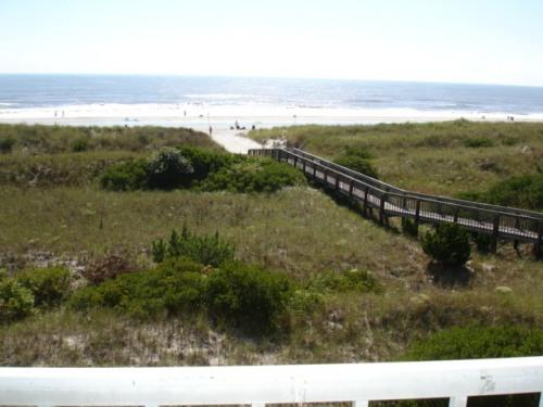 View from the balcony is deceiving...the ocean is much closer than it looks! - DIRECT OCEAN FRONT PROPERTY - Brigantine - rentals