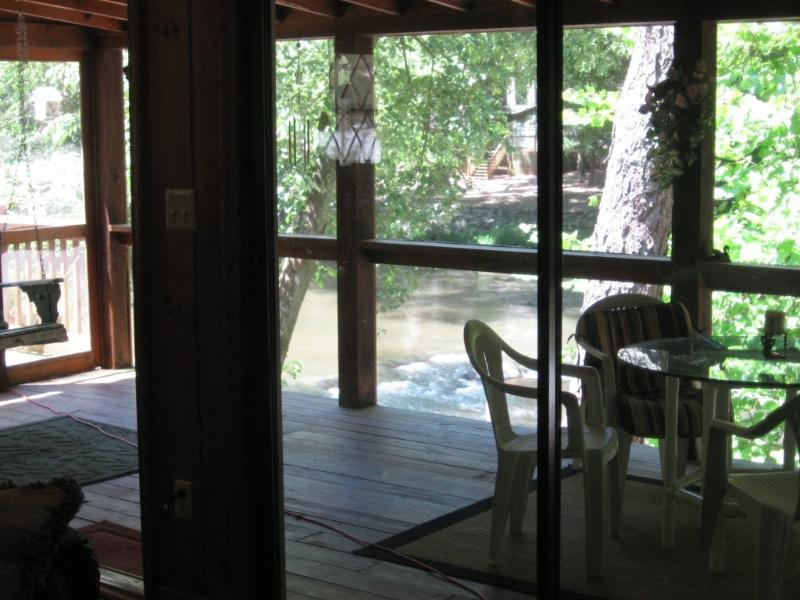 the river rapids are 15 feet from the back porch - River Edge White Water Cabin - Ellijay - rentals