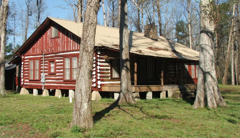 Exterior view of cabin. - BALL MILL-- Picturesque Log House in the Woods - Foxworth - rentals