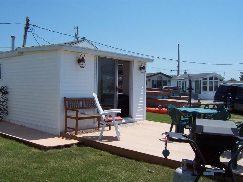 Entrance, Large Waterfront Deck - NEW WATERFRONT COTTAGE ON RHODE ISLAND SHORELINE - South Kingstown - rentals