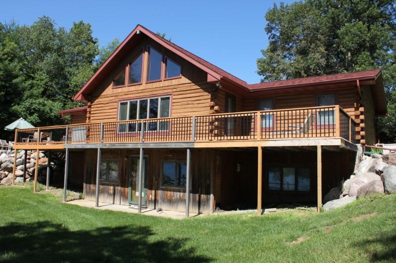 Rear, Facing Lake - Log Cabin Home On Scenic May Lake, Walker MN - Walker - rentals