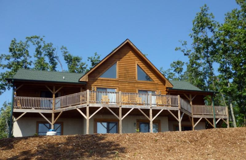 Cabin View Side - Morning Star Cabin Mountain Views Near Asheville - Nebo - rentals