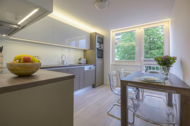 Modern and fully-equipped kitchen - 1-Bedroom Kristanova - Fine Ljubljana Apartments - Ljubljana - rentals
