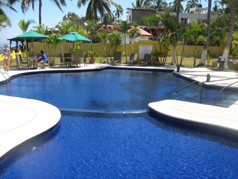 Beautiful Pool Area - Modern Oceanfront Condo in Los Ayala, Mexico - La Penita de Jaltemba - rentals