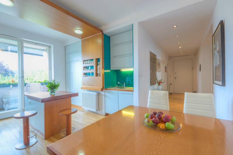 The custom-made furniture in the kitchen - Unique and Quiet with Two Balconies and Parking - Ljubljana - rentals