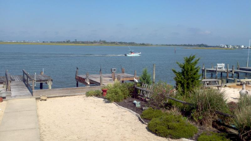 View of Dock from Rear Deck - LBI BAYFRONT GREAT VIEWS IN SHIP BOTTOM, NJ - Ship Bottom - rentals