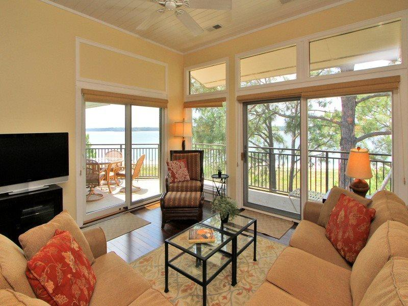 Living Room with Panoramic Views at 1900 Beachside Tennis - 1900 Beachside Tennis - Sea Pines - rentals