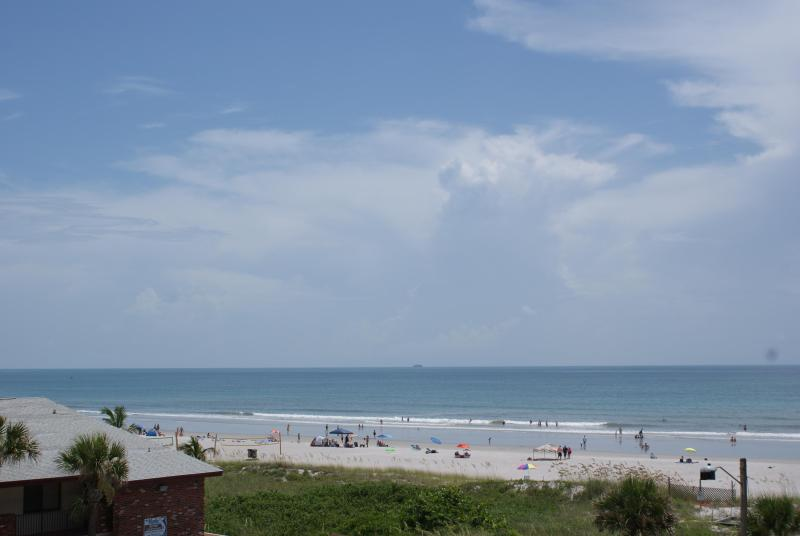Beach View from Balcony / Patio - Relaxing Beach Escape Condo - On the Beach - Cocoa Beach - rentals