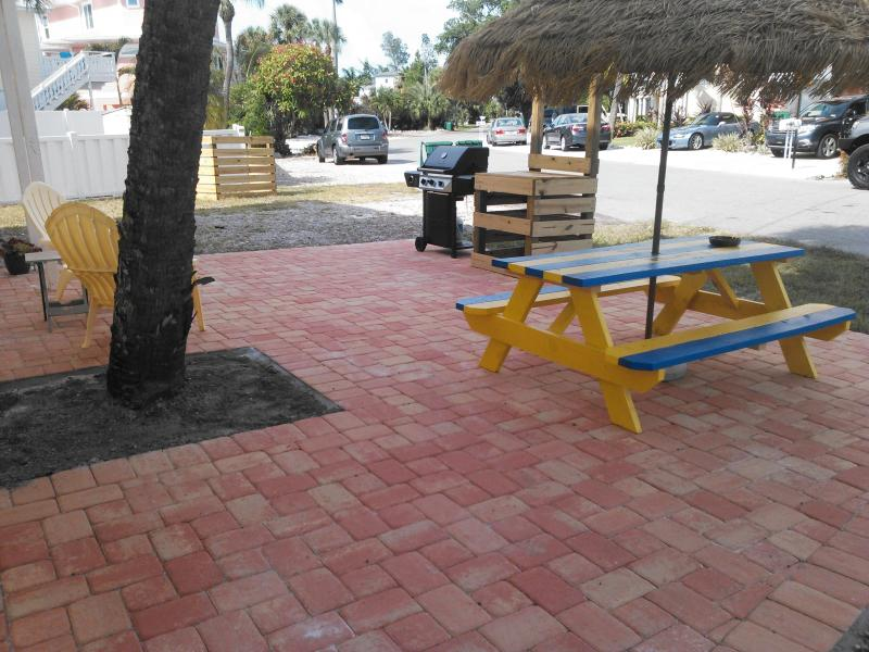 Brand new deck with picnic table & grill - Fully Remodeled Vacation Rental Anna Maria Island - Holmes Beach - rentals