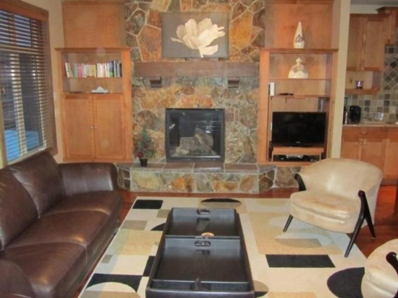 Comfy space to relax in front of the fire and watch TV or DVDs - Andy & Judith Halliday - Big White - rentals