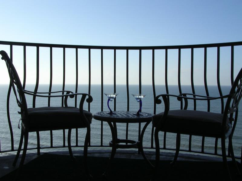 Balcony view from oceanfront rental #1404-Palms Resort - Five Star  Rating -  Romantic Couples Getaway - Myrtle Beach - rentals