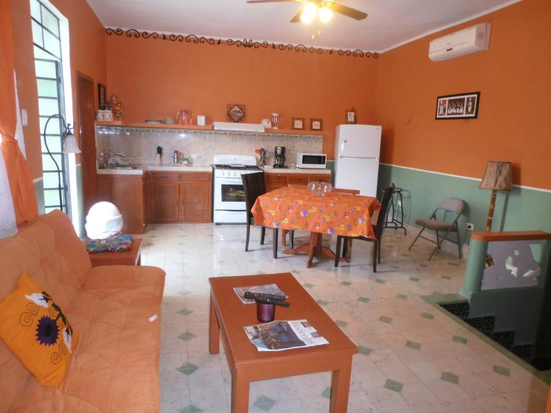 This is the combo dining living room area.  We have many more properties.. - Santiago neighborhood of Centro Merida - Merida - rentals