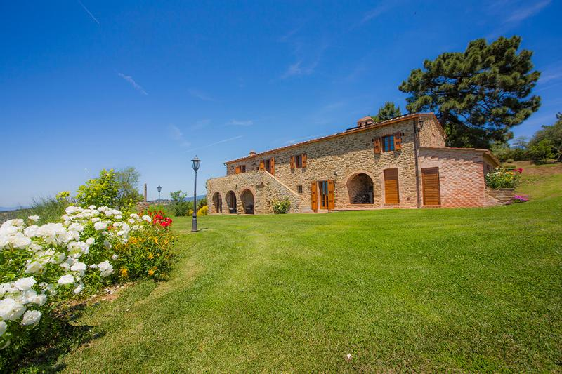 La Contea with swimming pool and panoramic view near Cortona - Image 1 - Cortona - rentals