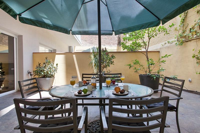 Passeig de Gracia - 2 bedroom with Private patio - Image 1 - Barcelona - rentals