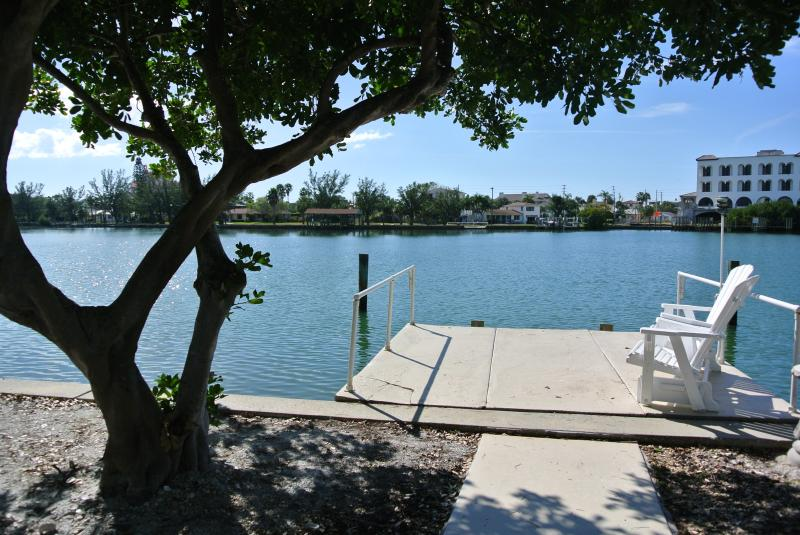 Private dock where the dolphins play - Waterfront on Belle Vista Drive - Saint Pete Beach - rentals