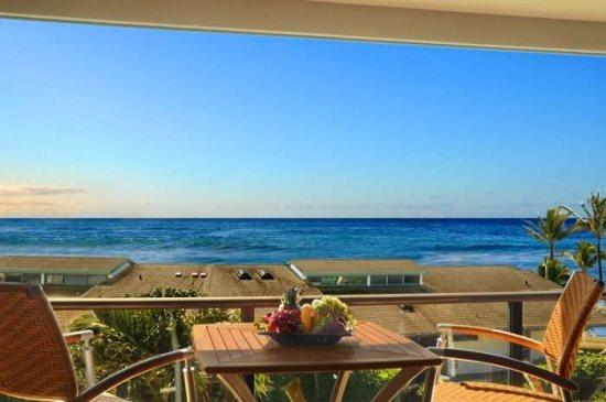lanai - Free Car* with Makahuena 2305 - 3 bedroom, 2 1/2 bath with spectacular ocean views, pool and short walk to beach - Poipu - rentals