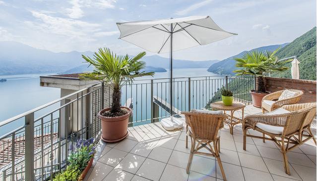 balcone - Bilocale splendida vista lago - Parzanica - rentals