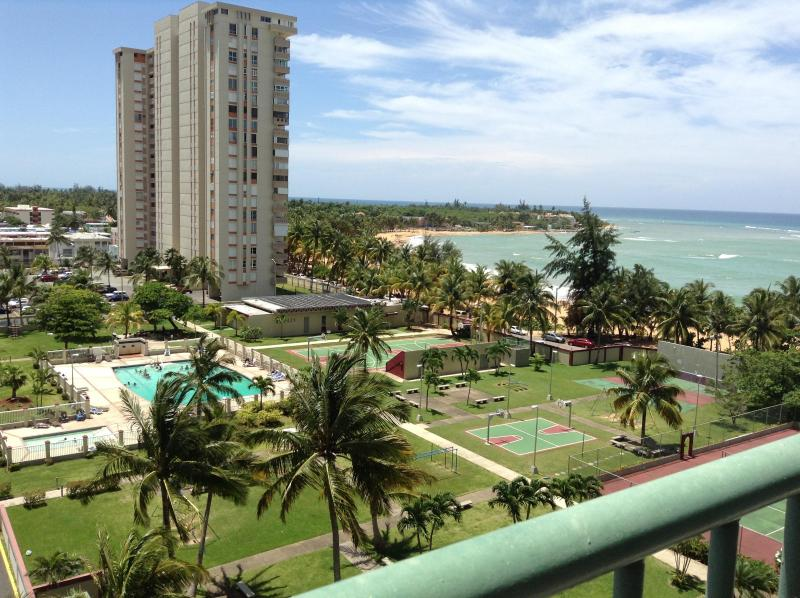 View from Terrace - Amazing Oceanfront 3 Bdrm Condo - Luquillo - rentals