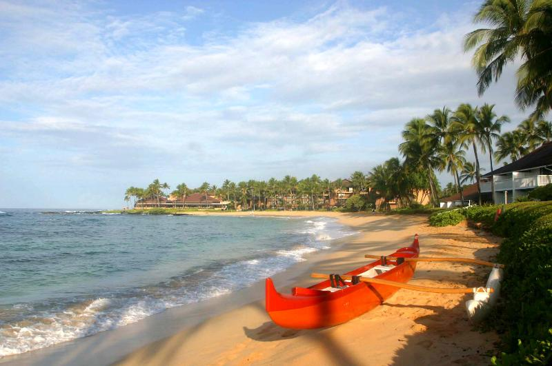 canoe on Poipu Beach - Your Poipu Vacation Villa, close to all beaches - Poipu - rentals