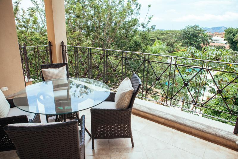 Outdoor patio with ocean view - Diria Contemporary Condo - Tamarindo - rentals