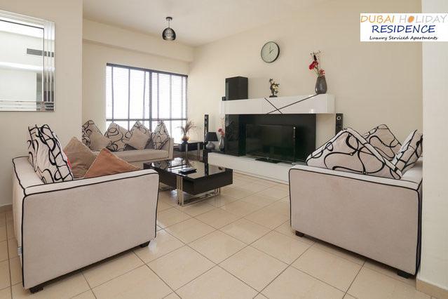 Living Room - Dubai JBR Rimal 3 Full Sea View High Floor Apt - Emirate of Dubai - rentals