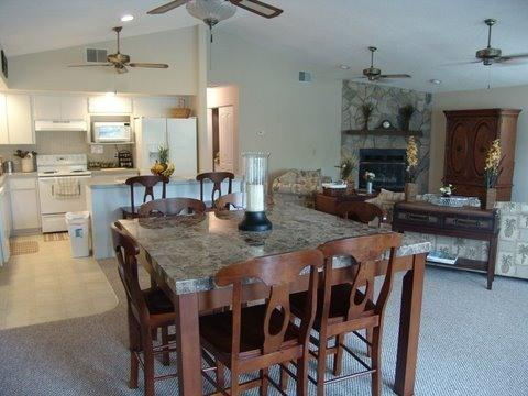Kitchen & Dining Area - Beautiful 3 BR/3 BA Waterfront Home - Crystal River - rentals