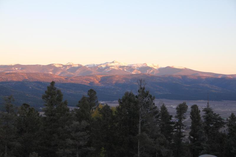 View of Wheeler Peak from Front Deck - Vista Encantado - Angel Fire - rentals